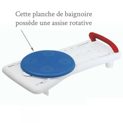 Planche de bain et siège rotatif
