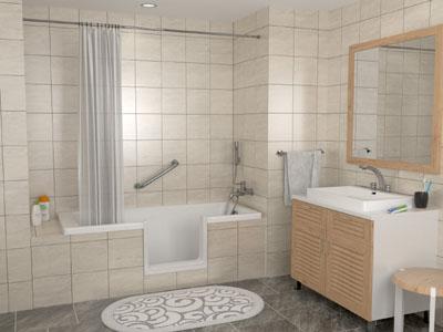 La découpe de baignoire sans portière